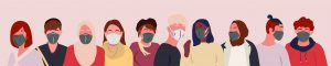 People with Masks Cartoon