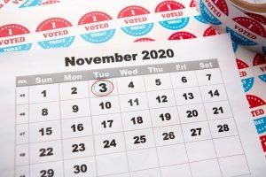 Calendar circled november 3