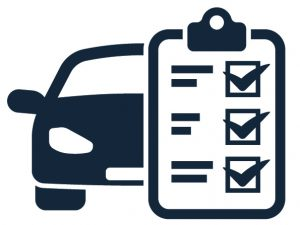 car with check off list