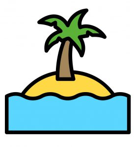 Beach tree cartoon